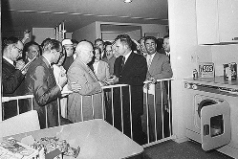 "The legendary ""kitchen debate"" between Nikita Khrushchev and Richard Nixon"